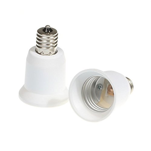 ILS - E17 To E26/E27 Base LED Light Lamp Holder Bulb Adapter PBT Converter Socket (Light E17 Base)