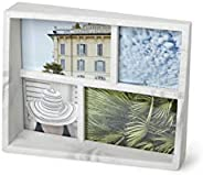 Umbra - 1013911-1125 Edge Resin Multi-Opening Picture Frame and Photo Display for Table Top or Wall, 4x6-Inch