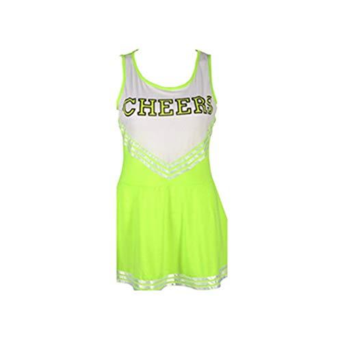 MCO%SISTSR Cheerleader-Kostüm,Mädchen-Cheerleadinguniformfußball Sexy Kleid High School Musik Kostüm Sport Wettbewerb Tanz - High School Tanz Kostüm