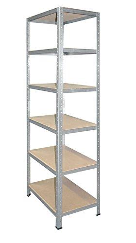 Preisvergleich Produktbild Steckregal 200x120x60 cm verzinkt 6 Böden Kellerregal Metallregal Regal Regalsysteme Lagerregal
