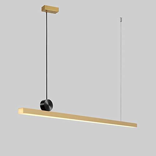 Minimalistischen Stil geometrischen Streifen Restaurant Bar Studie Kronleuchter kreatives Design LED Messing dekorative Beleuchtung Hängende Beleuchtung (Size : 118 * 13 * 5CM) -
