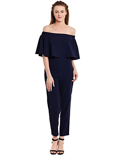 Femella Fashion's Navy Off Shoulder Jumpsuit ( DS-341309-1397-NAV-M )