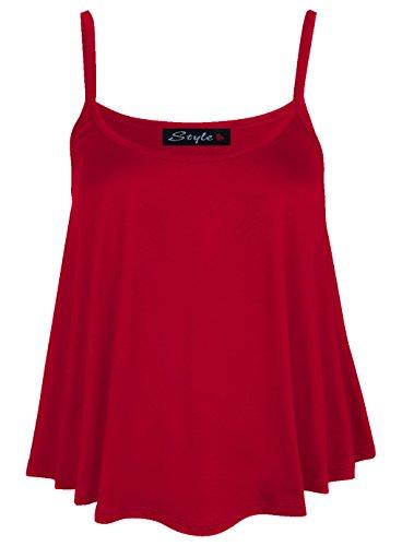 Damen Top, ärmellos, Schaukel Rot - Rot