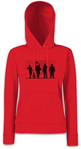 Urban Backwoods Horror Suspects Damen Kapuzenpullover Hoodie XS - 2XL (Hoodie Massacre Chainsaw Texas)