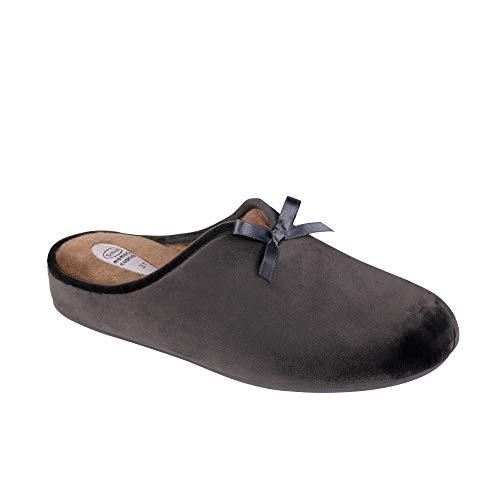 Dr scholl rachele ciabatta donna memory cushion velluto grigio (38 eu)