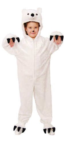 Eisbär Kinder Kostüm als Bär zu Karneval Fasching Größe 116/128