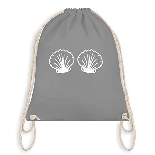 Karneval & Fasching - Meerjungfrau Kostüm weiß - Unisize - Hellgrau - WM110 - Turnbeutel & Gym Bag
