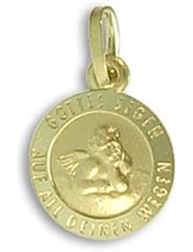Schutzengel Anhänger echt Gold (Art.213046/246)