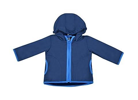 be! Baby / Kinder Softshell Jacke mit leichter Fleece-Schicht innen, Wassersäule: 10.000 mm, Gr. 86/92, dunkelblau