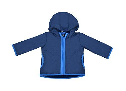 be! Baby / Kinder Softshell Jacke mit leichter Fleece-Schicht innen, Wassersäule: 10.000 mm, Gr. 92/98, dunkelblau