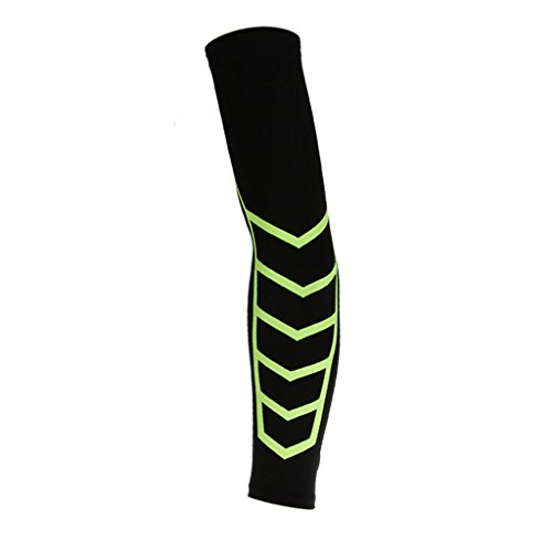 Imported Sports Basketball Cycling Compression Arm Support Sleeve Wrap Cover M Black