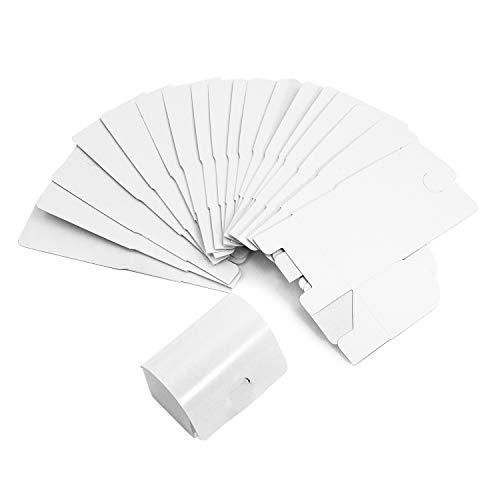 Oblique Unique® Mini Kisten Schatzkisten Schatztruhen aus Pappe zum Basteln Bemalen Dekorieren und als Geschenk Weiß - 12 oder 24 Stück - Menge wählbar (24 Stück)
