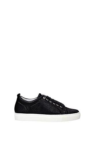 FWSKPK1LCRACH16108 Lanvin Sneakers Femme Chamois Noir Noir