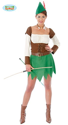 Sexy Bogenschützin - Kostüm f. Damen Karneval Fasching Jägerin Mittelalter Gr. S - L, Größe:L