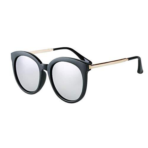 YIWU Brillen Net rot schwarz Sonnenbrille rundes Gesicht Anti-uv Retro Beach ins Sonnenbrille ms Big face koreanische Version Tide Marke Brillen & Zubehör (Color : 2)