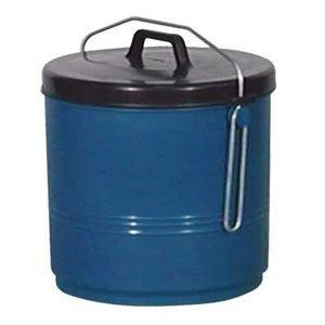 ALUMINIUM ET PLASTIQ Poubelle Couvercle inséparable 16 L, Bleu