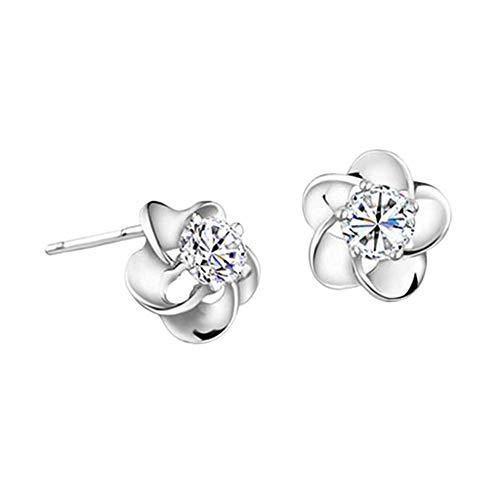 TUANTALL Diamanten Ohrringe Damen Ohrstecker Für Geschenk Klassische Hochzeit Romantische Urlaub Süße Ohrringe White