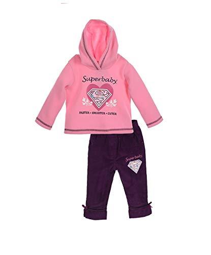)DC Universe Superbaby Mädchen Jogginganzug Hausanzug Freizeitanzug (86cm (24 Moante), Lila) (Superhelden Onesies Für Babys)