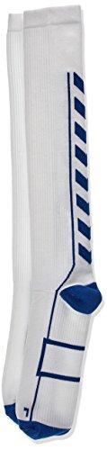 Hummel Socken Tech Indoor Socks High, White/True Blue, 12, 21-075-9368 12 High Socken