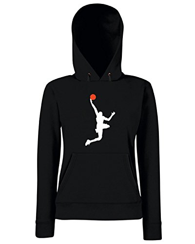 T-Shirtshock - Sweats a capuche Femme OLDENG00399 basketball (9) Noir