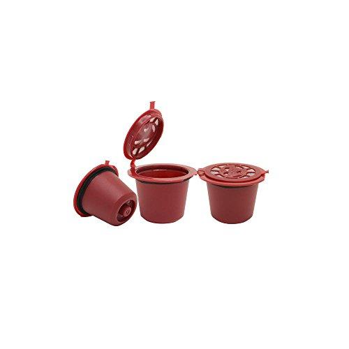 wiederverwendbar Nespresso capsules-red 5Pack
