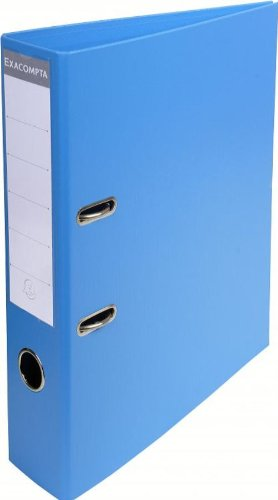 Exacompta-53742E-Classeur--Levier-PVC-2-Anneaux-Format-A4-Dos-de-70-mm-Bleu