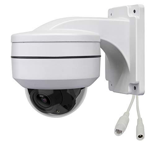 LEFTEK PoE PTZ IP Telecamera con staffa di montaggio a parete 2MP H.265 1080P Zoom ottico 3X IP67 Telecamera di Sicurezza CCTV IR con Metallo Pieno Supporto per Esterni
