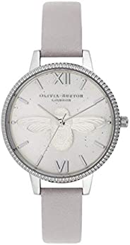 Olivia Burton Womens Quartz Watch, Analog Display and Leather Strap OB16GD05