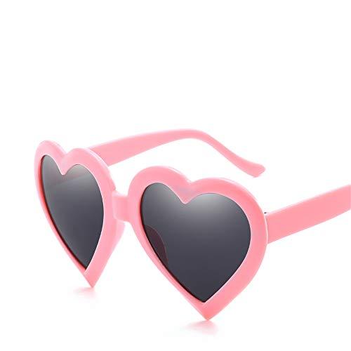 DURIAN MANGO Damen-Herz-Sonnenbrille-Liebes-Herz-geformte Gläser,Pink