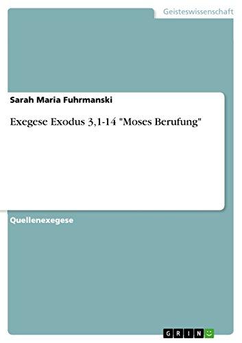 Exegese Exodus 3,1-14