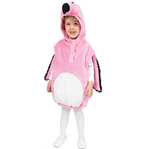Krause & sohn costume da fenicottero kiki per bambini, taglia 104-110 animale carnevale