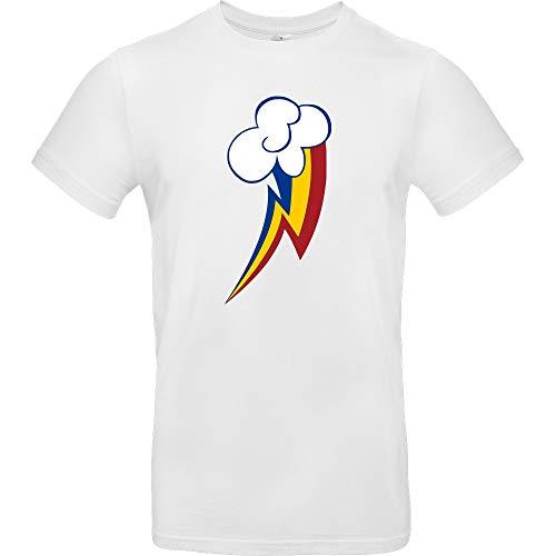 Rainbow Dash - T-Shirt, weiß, Gr. M