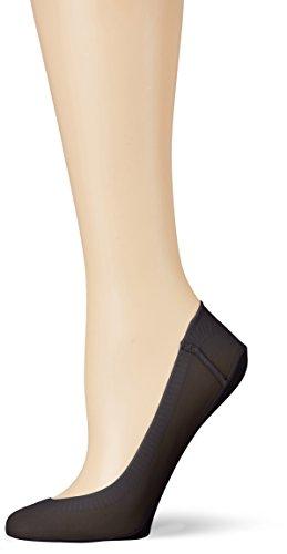 Camano Damen Women Fashion Footie Lacercut 2p Füßlinge & Sneakersocken, Schwarz (Black 05), (39/42) (2erPack)