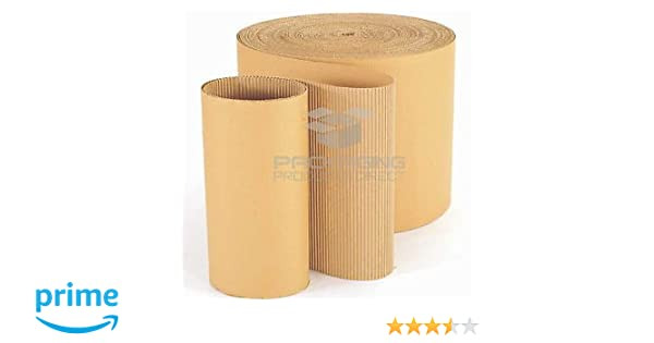 450mm x 75M CORRUGATED CARDBOARD PAPER ROLL 75 METRES