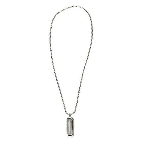 OverDose Zubehör Schmuck Halskette Anhänger für Fitbit Flex 2 (Silber)