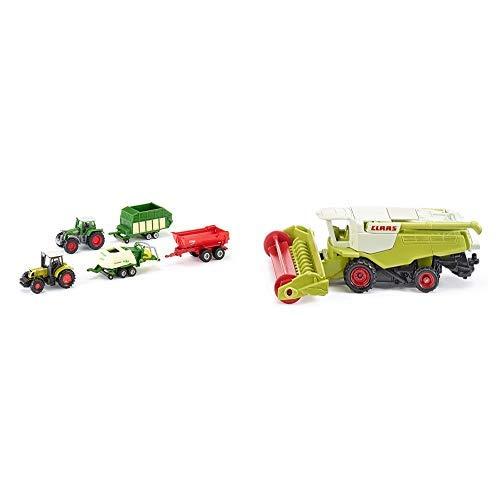 84 Mini-anhänger (Siku 6286 - 5er Geschenkset 7 (sortiert) &  1476 - Claas Mähdrescher Fahrzeug)