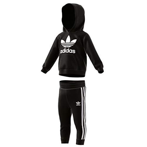 adidas - Trefoil Hoodie - Survêtement - Mixte Enfant - Noir (Black/White) - FR: 9-12 mois (Taille Fabricant: 80)