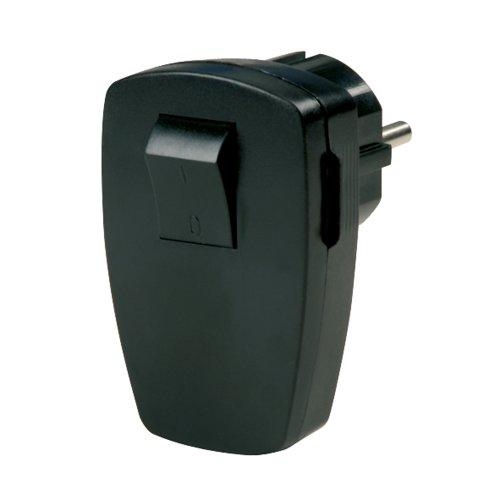 0512102555 Stecker mit Schalter, schwarz