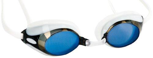 Blue Mirror Schutzbrille (blueseventy Damen nero Race Cap, damen, Mütze, GGNRR-09-WUM-0000, White/Blue Mirror, Nicht zutreffend)