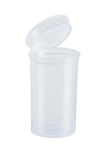 10x 19DRAM-/80ml POP TOP Flasche Stash Container-Transparent Klar -