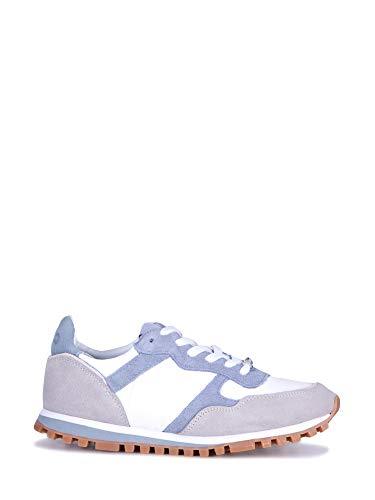 Scarpe sneaker running liu-jo mod alexa in tessuto bianco suede blue/grey donna ds19lj06