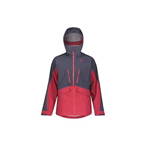 Scott Vertic DRX 3L Jacket Colorblock-Blau, Herren DermizaxTM Regenjacke, Größe L - Farbe Blue Nights - Wine Red