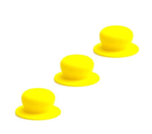 Kerafactum® Lid Cookware Pot Lid Knob Handle Replacement Grip Universal Knob Turner Plastic handle Pot Lid Knob Lid Diameter 7cm, yellow, 3 items