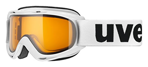 Uvex Slider Skibrille, weiß (White), One Size (Orange Jungen Ski Helm)
