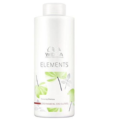 Wella Elements sulfatfreies Shampoo 1 x 1000 ml für trockenes-sprödes Haar Professionals Care (Shampoo Wella Elements)