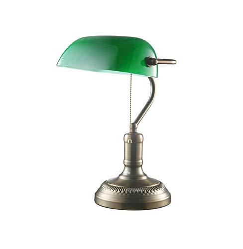 Xiao Yun ☞ / Bank Retro Tischlampe Studie in der Republik China Büro Schreibtischlampe Schlafzimmer Leselampen am Bett Dimmbare Zugschnurschalter Nordische Kreativität ☜ - Schlafzimmer Stahl-bank