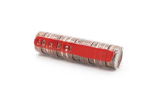 Euro Kunststoffhülsen Münzhülsen aus Kunststoff für Euromünzen wiederverwendbar für alle Münzen von 1 Cent bis 2 Euro (5 Cent - 20 Stück) -