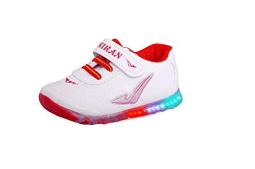 Fashion shoes Baby's Red Synthetic LED Light Shoes, 4.5-5.0 Years
