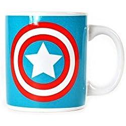 Marvel Capitán América Taza cerámica en caja Escudo Mercancía logotipo oficial