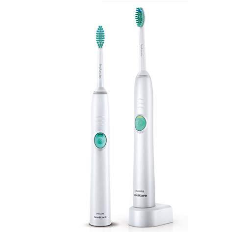Philips Sonicare Easy Clean Elektrische Zahnbürste mit Schalltechnolgie HX6512/02, weiß, Doppelpack